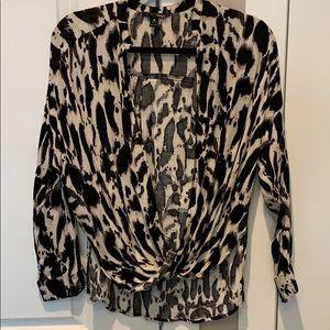 AQUA Zebra/Leopard Blouse